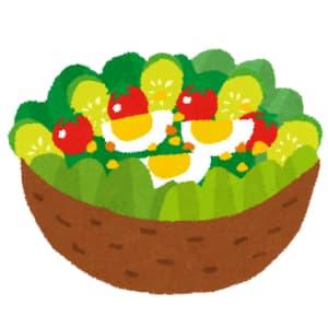 卵とサラダ