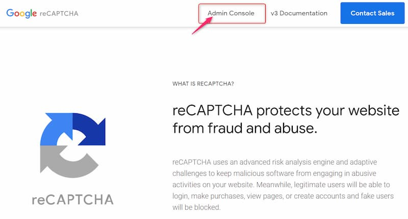 Invisible reCaptcha Setting2