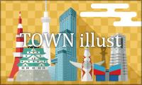 town illust